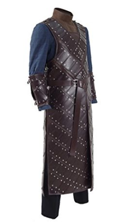2017-Hot-TV-Drama-Snow-Costume-Knights-Brown-Leather-Armor-Cosplay-Outfit-0-1