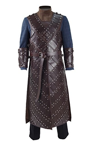 2017 Hot TV Drama Snow Costume Knight's Brown Leather Armor Cosplay Outfit