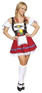 3-Piece-German-Beer-Girl-Oktoberfest-Suspender-Mini-Dress-Costume-0