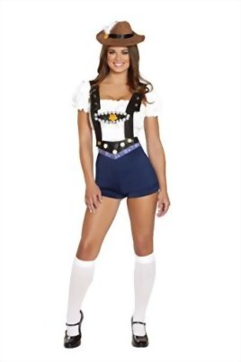 4-Piece-German-Beer-Girl-Oktoberfest-Tube-Top-Suspender-Shorts-Costume-0