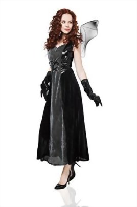 Adult-Women-Bat-Costume-Halloween-Cosplay-Role-Play-Evil-Night-Demon-Dress-Up-0-0