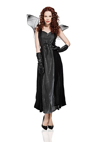 Adult-Women-Bat-Costume-Halloween-Cosplay-Role-Play-Evil-Night-Demon-Dress-Up-0