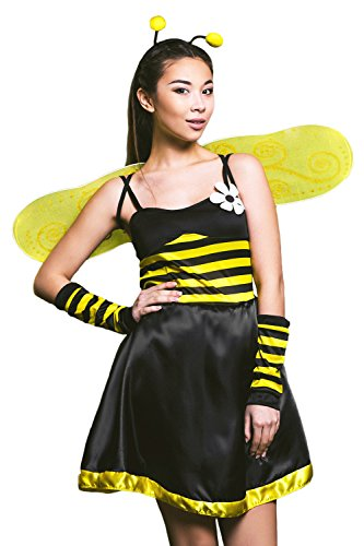 Adult-Women-Buzzing-Queen-Bumble-Bee-Costume-Wasp-  sc 1 st  Halloween Costumes Best & Adult Women Buzzing Queen Bumble Bee Costume Wasp Cosplay Role Play ...