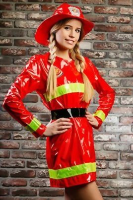 Adult-Women-Firewoman-Costume-Firefighter-Role-Play-Fire-Hero-Rescuer-Dress-Up-0-2