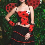 Adult-Women-Ladybug-Costume-Wings-Antennae-Cosplay-Role-Play-Lovebug-Dress-Up-0-0