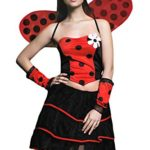 Adult-Women-Ladybug-Costume-Wings-Antennae-Cosplay-Role-Play-Lovebug-Dress-Up-0