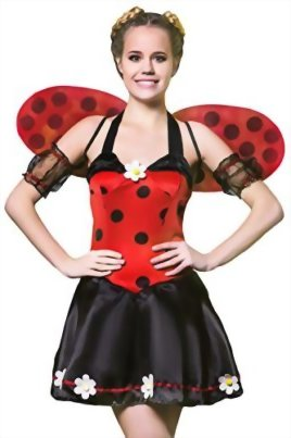 Adult-Women-Ladybug-Princess-Costume-Wings-Cosplay-Role-Play-Lovebug-Dress-Up-0