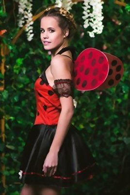 Adult-Women-Ladybug-Princess-Costume-Wings-Cosplay-Role-Play-Lovebug-Dress-Up-0-3