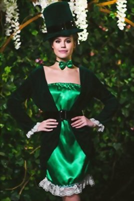 Adult-Women-Leprechaun-Costume-Irish-Fairy-Shee-Cosplay-Role-Play-Sprite-Dress-Up-0-0