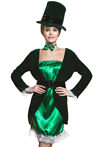 Adult-Women-Leprechaun-Costume-Irish-Fairy-Shee-Cosplay-Role-Play-Sprite-Dress-Up-0