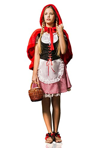 Adult-Women-Little-Red-Riding-Hood-Fairy-Tale-Costume-Cosplay-Role-Play-Dress-Up-0