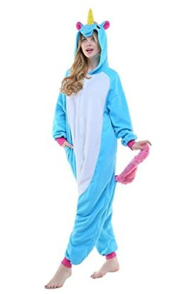 Adult-Women-Mens-New-Kigurumi-Unicorn-Onesies-Pajamas-Cosplay-Halloween-Costume-0-1