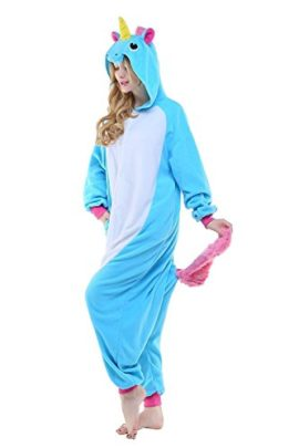 Adult-Women-Mens-New-Kigurumi-Unicorn-Onesies-Pajamas-Cosplay-Halloween-Costume-0-2