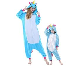 Adult-Women-Mens-New-Kigurumi-Unicorn-Onesies-Pajamas-Cosplay-Halloween-Costume-0