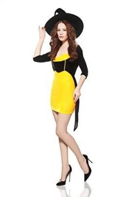 Adult-Women-Playful-Witch-Costume-Sorceress-Halloween-Cosplay-Role-Play-Dress-Up-0-0