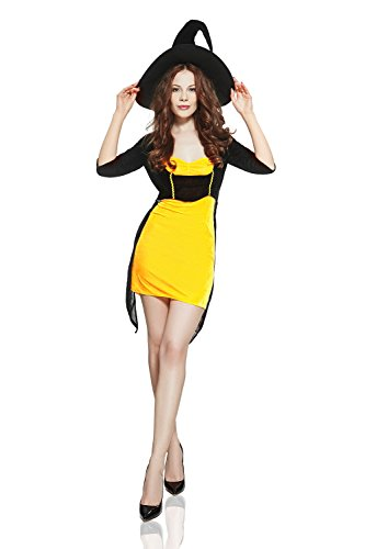 Adult-Women-Playful-Witch-Costume-Sorceress-Halloween-Cosplay-Role-Play-Dress-Up-0