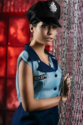 Adult-Women-Police-Blue-Coat-Costume-Officer-Uniform-Girl-Role-Play-Dress-Up-0-3