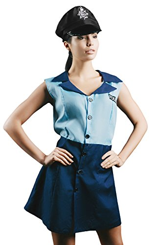 Adult-Women-Police-Blue-Coat-Costume-Officer-Uniform-Girl-Role-Play-Dress-Up-0