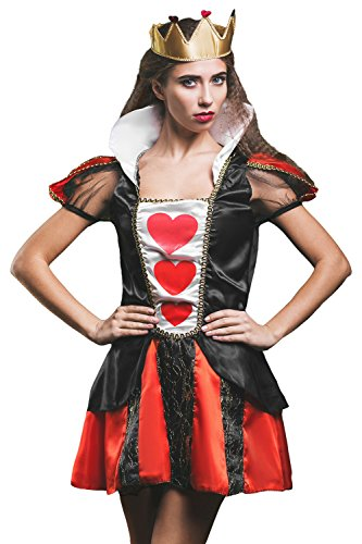 Adult-Women-Queen-of-Hearts-Costume-Cosplay-Role-Play-Wonderland-Empress-Dress-Up-0