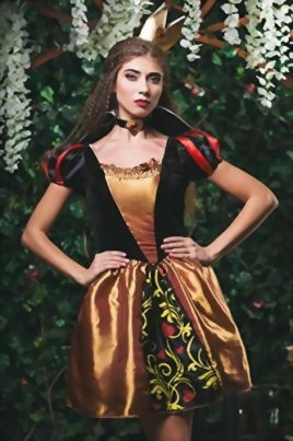 Adult-Women-Queen-of-Hearts-Costume-Cosplay-Role-Play-Wonderland-Monarch-Dress-Up-0-0
