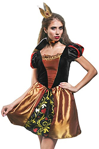 Adult-Women-Queen-of-Hearts-Costume-Cosplay-Role-Play-Wonderland-Monarch-Dress-Up-0