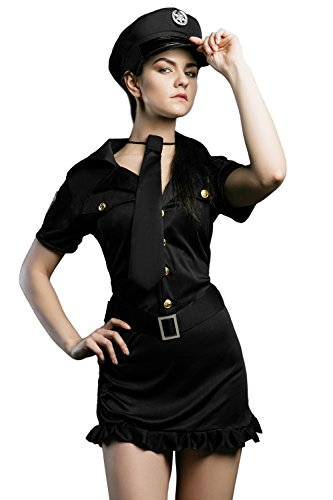 Adult-Women-Sassy-Cop-Costume-Police-Officer-Girl-Role-Play-Investigator-Dress-Up-0