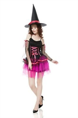 Adult-Women-Wicked-Witch-Costume-Halloween-Cosplay-Role-Play-Sorceress-Dress-Up-0-0