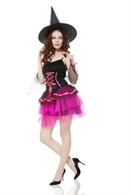 Adult-Women-Wicked-Witch-Costume-Halloween-Cosplay-Role-Play-Sorceress-Dress-Up-0-1