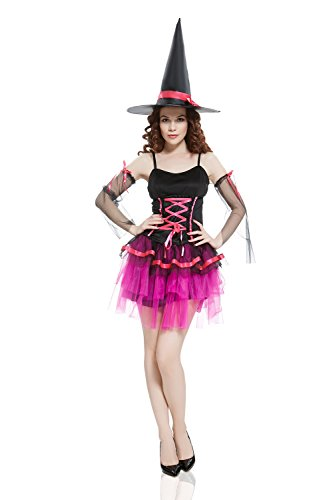 Adult-Women-Wicked-Witch-Costume-Halloween-Cosplay-Role-Play-Sorceress-Dress-Up-0