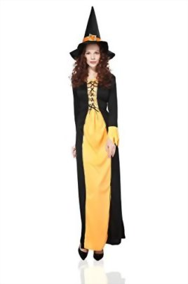Adult-Women-Witch-Costume-Sorceress-Halloween-Cosplay-Role-Play-Fairy-Dress-Up-0