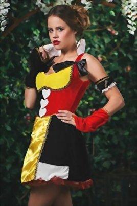 Adult-Women-Wonderland-Monarch-Costume-Cosplay-Role-Play-Queen-of-Hearts-Dress-Up-0-1