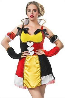 Adult-Women-Wonderland-Monarch-Costume-Cosplay-Role-Play-Queen-of-Hearts-Dress-Up-0