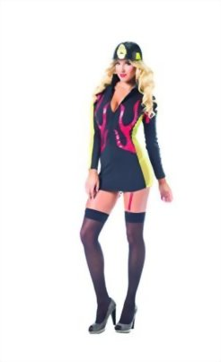 Adult-Womens-2-Piece-Sexy-Fire-Fighter-Halloween-Party-Costume-0