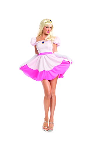 Adult Women's 3 Piece Disney Princess Aurora Halloween Party Costume