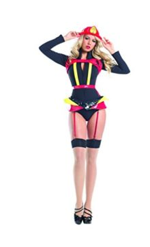 Adult-Womens-4-Piece-Sexy-Fire-Fighter-Romper-Halloween-Party-Costume-0