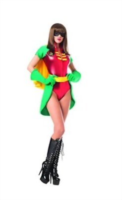 Adult-Womens-5-Piece-Miss-Robin-Super-Hero-Halloween-Party-Costume-0