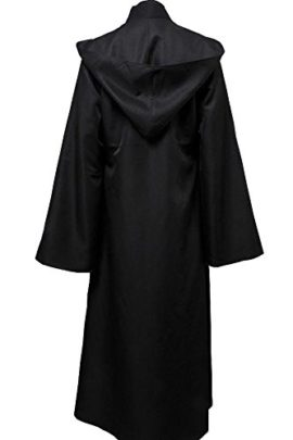 Allten-Mens-Cosplay-Costume-Black-Linen-Halloween-Robe-Tunic-Outfit-0-0