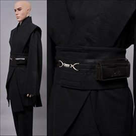 Allten-Mens-Cosplay-Costume-Black-Linen-Halloween-Robe-Tunic-Outfit-0-2