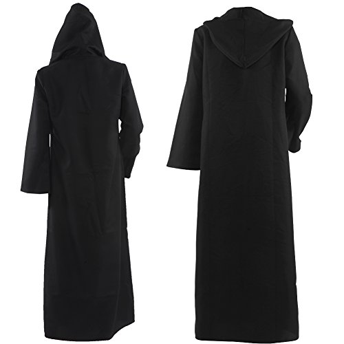 Allten-Mens-Costume-Halloween-Black-Tunic-Hooded-Robe-Cloak-0-0