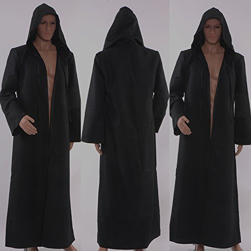 Allten-Mens-Costume-Halloween-Black-Tunic-Hooded-Robe-Cloak-0-1