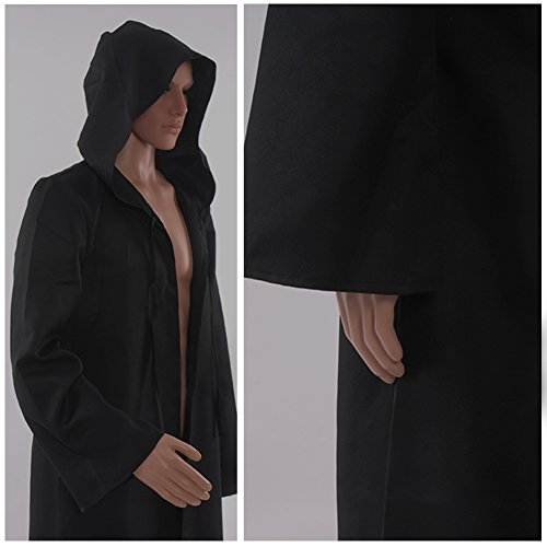 Allten-Mens-Costume-Halloween-Black-Tunic-Hooded-Robe-Cloak-0-2