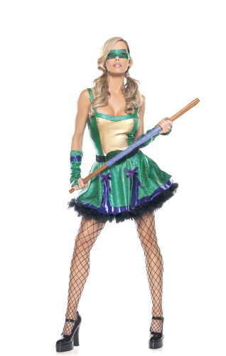 Be Wicked Costumes Women's Ninja Turtle BA Costume