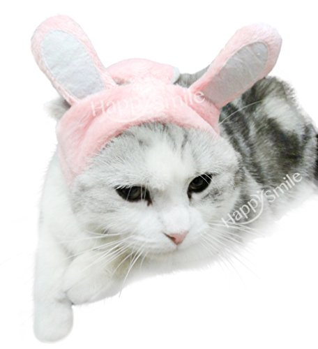 Best-Pink-White-Bunny-Rabbit-Dog-and-Cat-Costume-Funn-with-Stuffed-Ears-Funny-Pet-Cosplay-Costume-with-Stuffed-EarsDress-for-Halloween-Christmas-Easter-Festival-Party-Activity-0