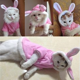 BroBear-Plush-Rabbit-Outfit-with-Hood-Bunny-Ears-for-Small-Dogs-Cats-Pink-0-2