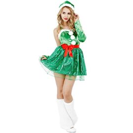 CLUB-QUEEN-Christmas-Tree-Inspired-Costume-Womens-XSS-Size-0-0