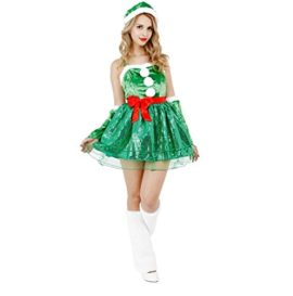 CLUB-QUEEN-Christmas-Tree-Inspired-Costume-Womens-XSS-Size-0