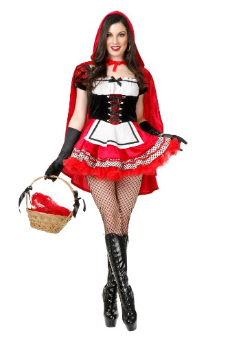Charades Women's Red Hot Riding Hood Costume Set