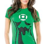 DC-Comics-Womens-Green-Lantern-T-Shirt-With-Eye-Mask-And-Ring-0-0