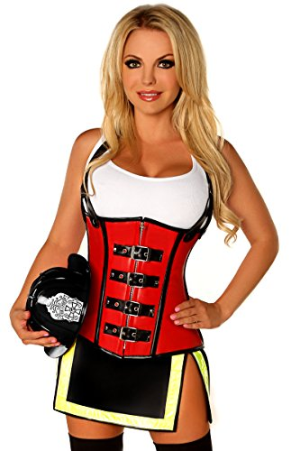Daisy Corsets Women's Top Drawer Five Alarm Firegirl Costume