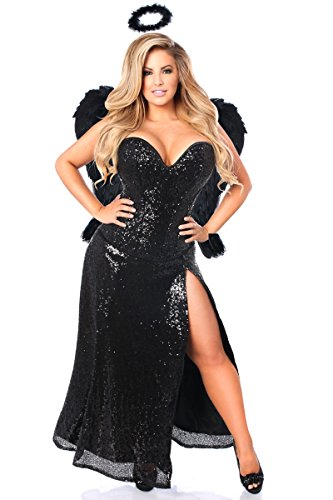 Daisy Corsets Women's Top Drawer Premium Dark Angel Corset Costume
